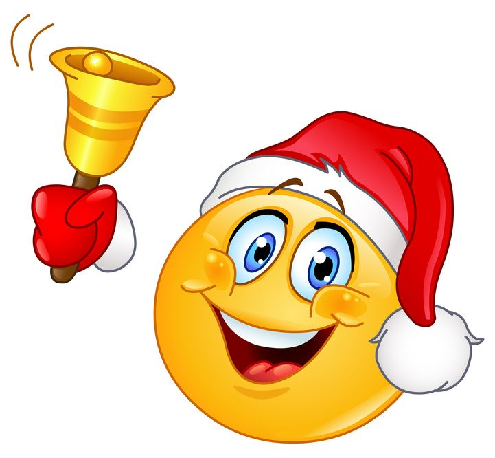 Christmas emoticon with bell
