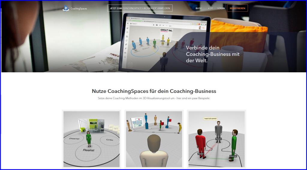 Screenshot Website Coachingspaces