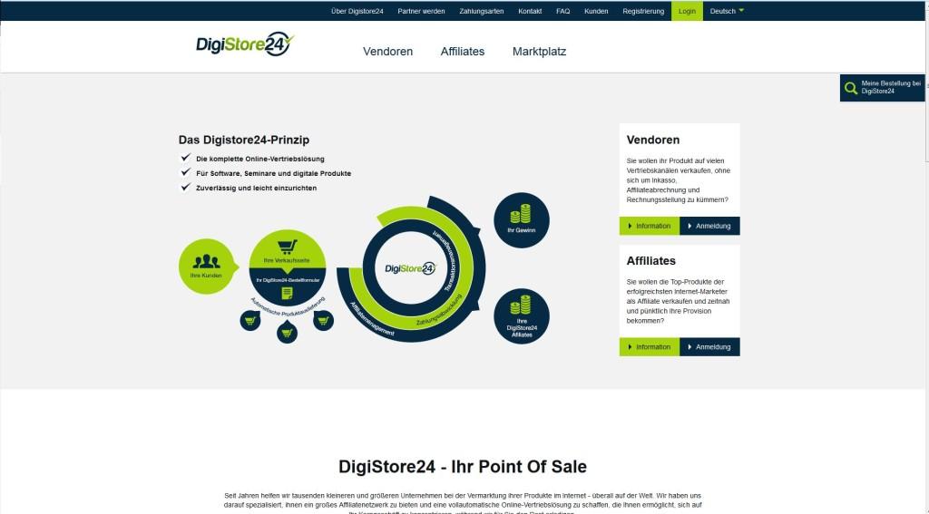 Digistore-Startbildschirm131115