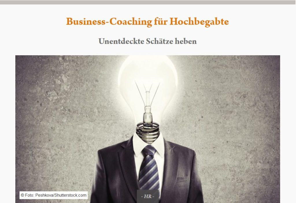 Business Coaching für Hochbegabte